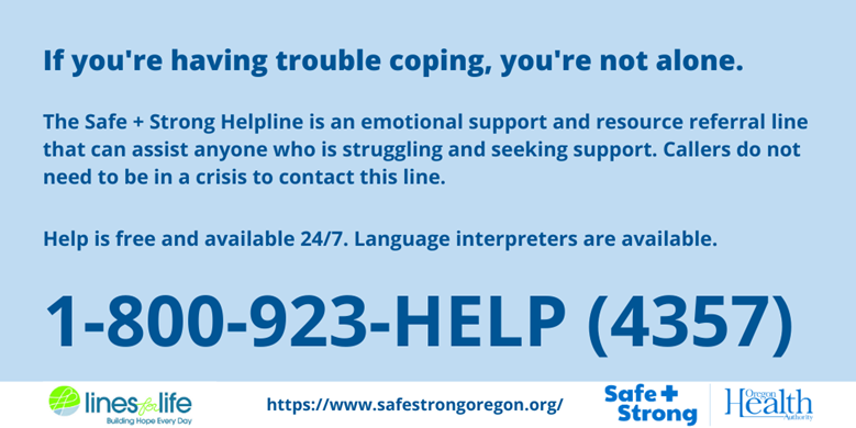 If you're having trouble coping, you're not alone.