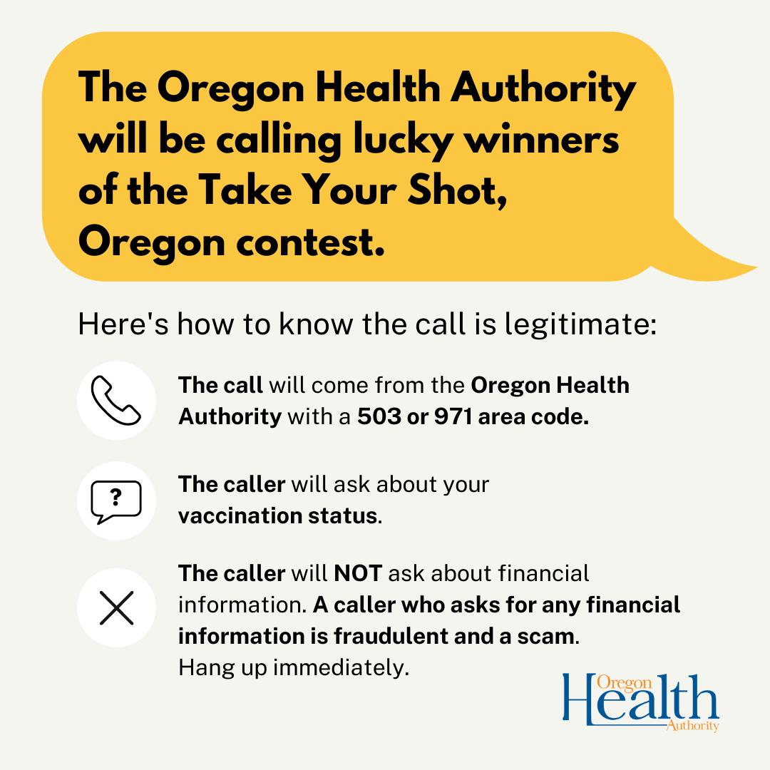 Take your shot, Oregon infographic