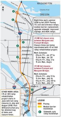 Update Traffic Closures Starting On I 5 And The Banfield