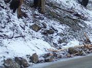 Rockfall has been landing on the Historic Highway near Horsetail Falls.