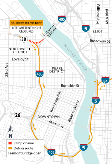 I-405 Ramps Project: Constructions Begins & Nighttime