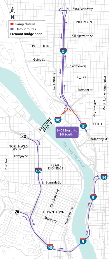 I-405 Ramps Project: Full Weekend Closure of I-405 North to