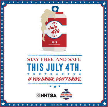 Stay free and safe this July 4th. If you drink, don't drive.