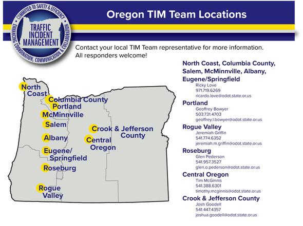 Oregon TIM Team Map