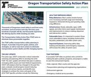Oregon Transportation Safety Action Plan fact sheet