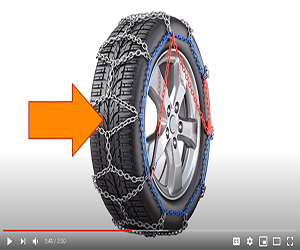 Tire chain installation video on YouTube
