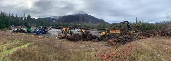 Debris cleanup panorama