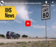 IIHS news: new crash tests show modest speed increases can have deadly consequences (video)