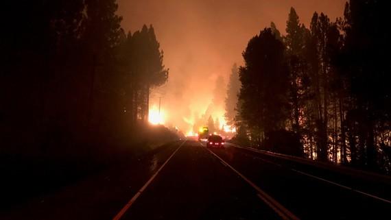 U.S. 97 Chiloquin fire