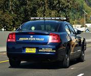 Oregon State Police trooper vehicle