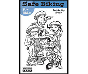Safe biking for kids activity book cover page