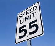 Speed limit sign 55mph