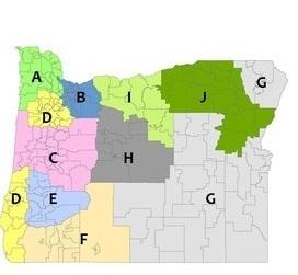 Oregon Regional Educator Network Map