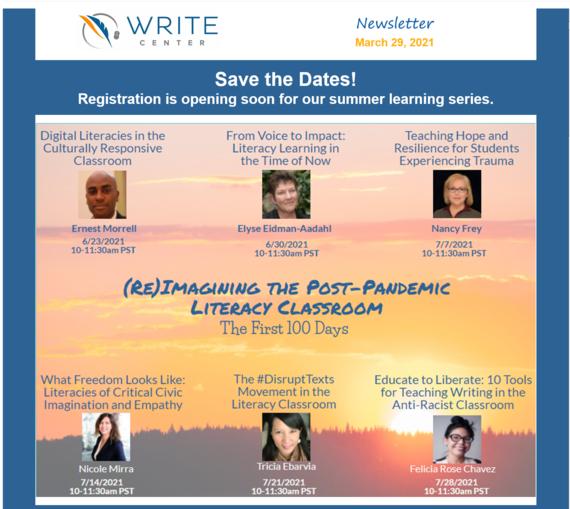 Image of National Write Center flyer