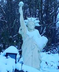 Snowy Lady Liberty