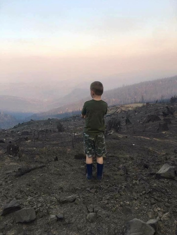 Boy and the Chetco Fire
