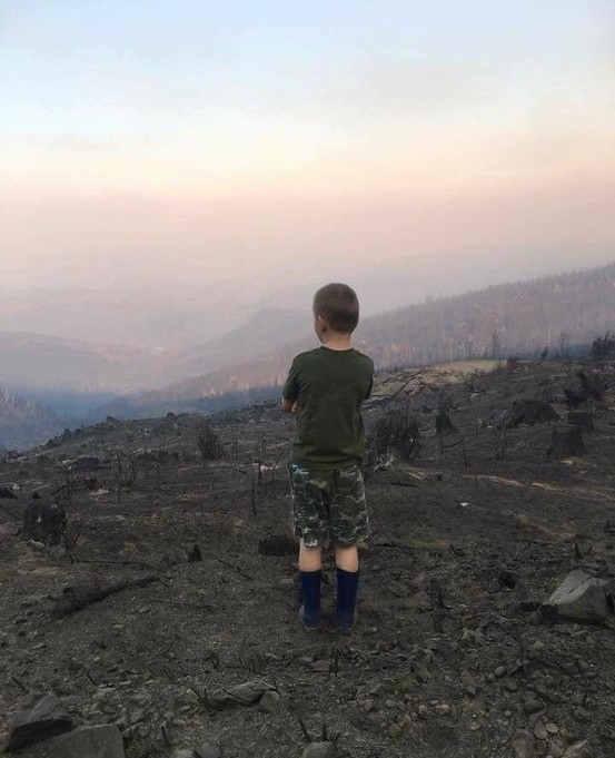 Boy and the Chetco Fire