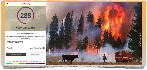 LA Times Yosemite and PM2.5