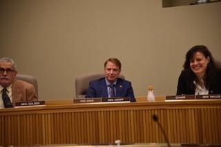 Senator Knopp in first hearing of the legislative session