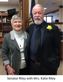 Senator Chuck Riley with his wife Katie Riley
