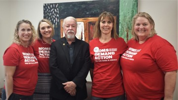 Moms Demand Action visit with Senator Riley