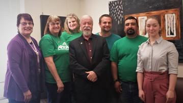 AFSCME visit with Senator Riley