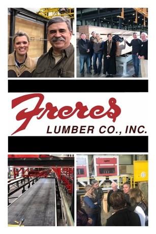 Freres Lumber tour photo collage