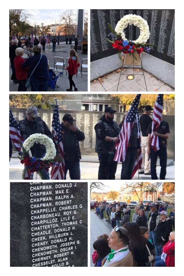 11-11-19 Photos of Veterans Ceremony at WW II Memorial on Capitol Grounds