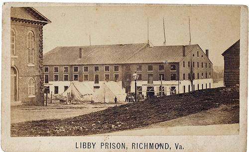 Civil War photo of Libby Prison, Richmond, VA