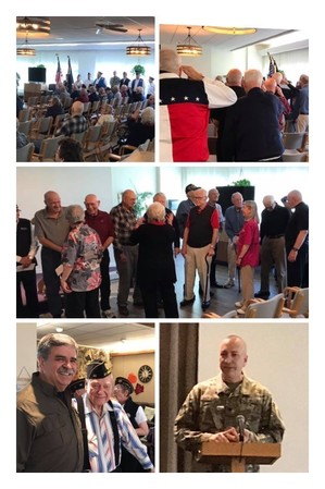 11-11-19 Veterans ceremony at Mt. Angel Towers Retirement Home