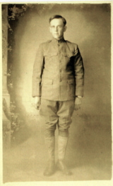 Rep. Lewis's grandfather's military photo WW I
