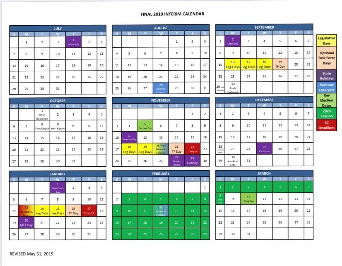 2019 Interim Calendar