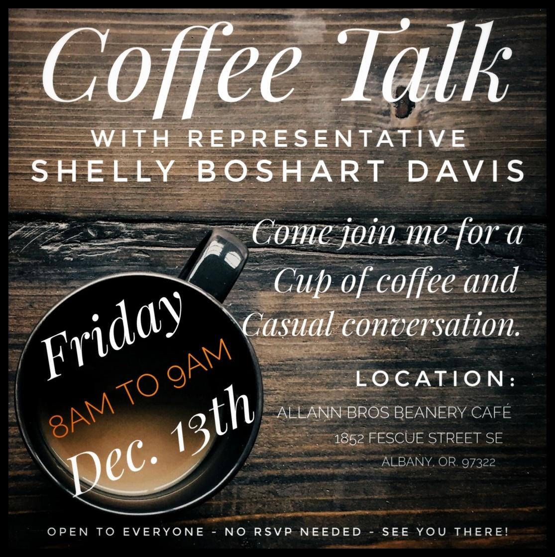 Coffee Talk with Rep Shelly Boshart Davis