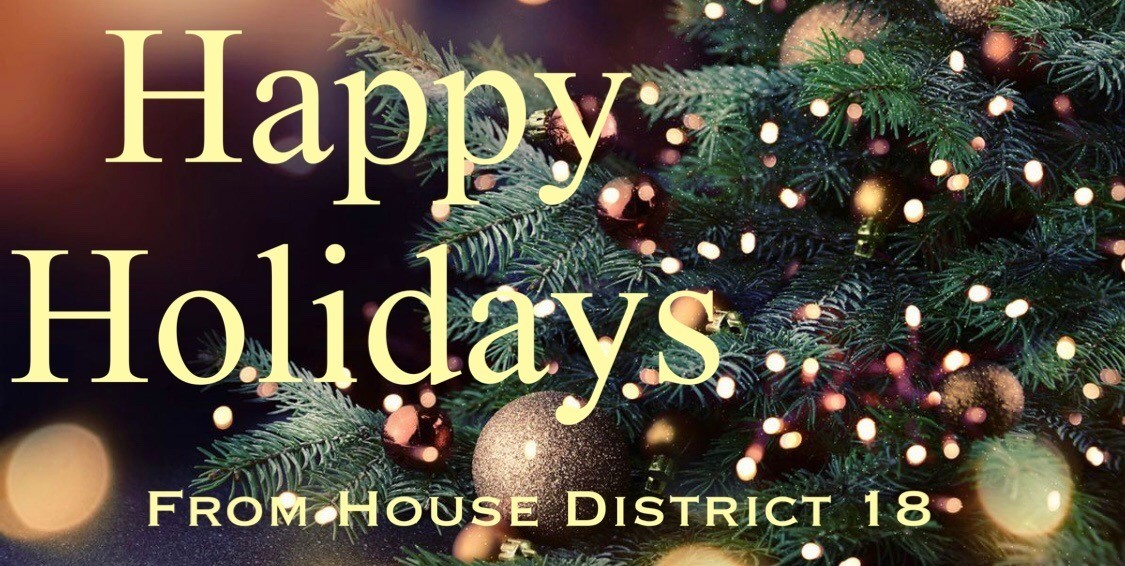 Happy Holidays From House District 18 graphics