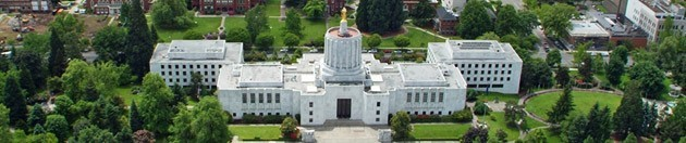 Ariel Image of the Oregon State Capitol