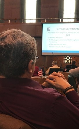 Photo of Rep. Lewis attending mandatory pre-session training