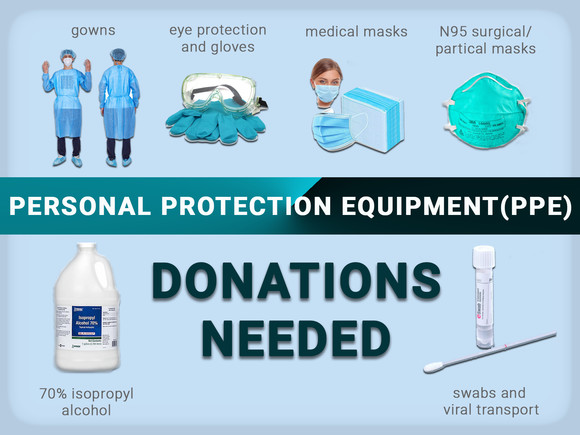 PPE DONATIONS NEEDED