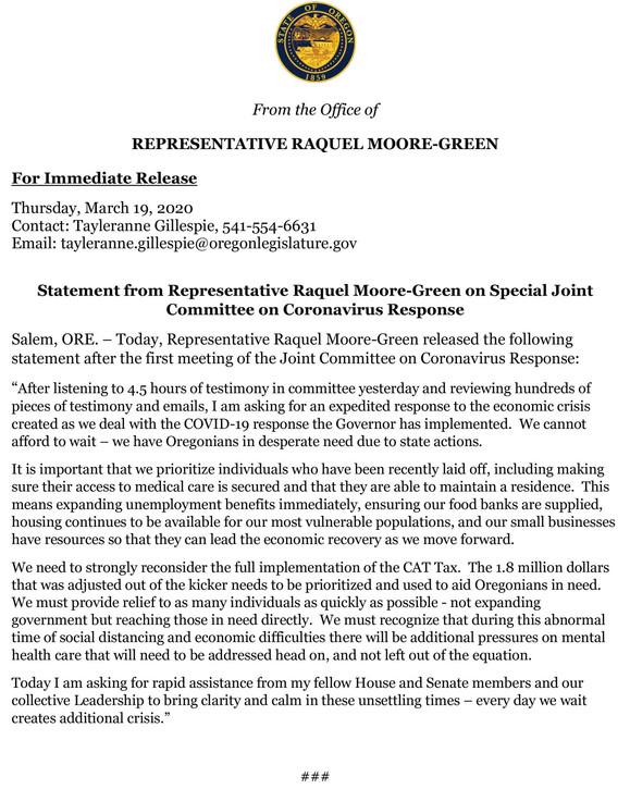 Rep Moore-Green PR