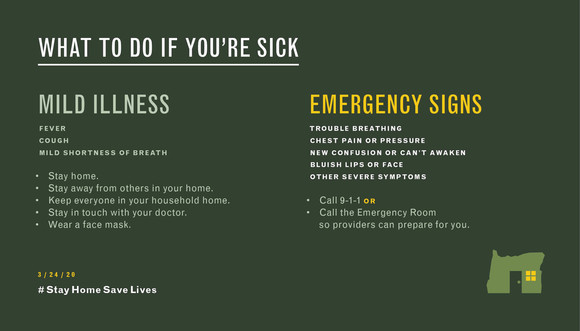 What to do if you're sick