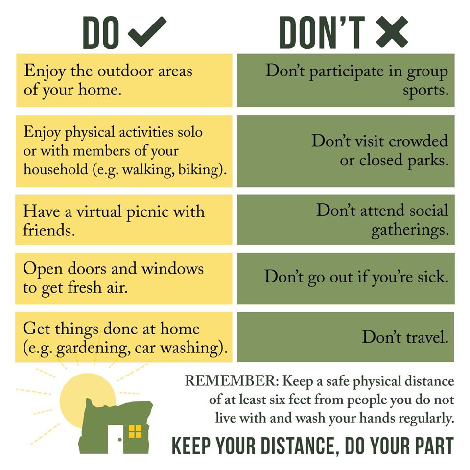Dos & Dont's for Outdoor Recreation