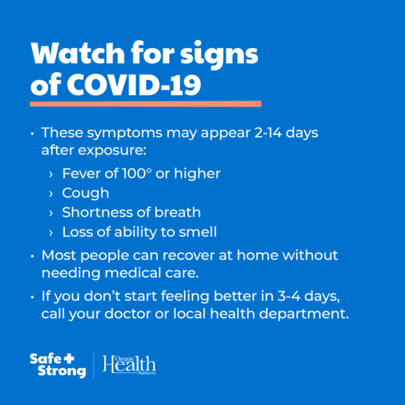 Watch for Signs of COVID-19