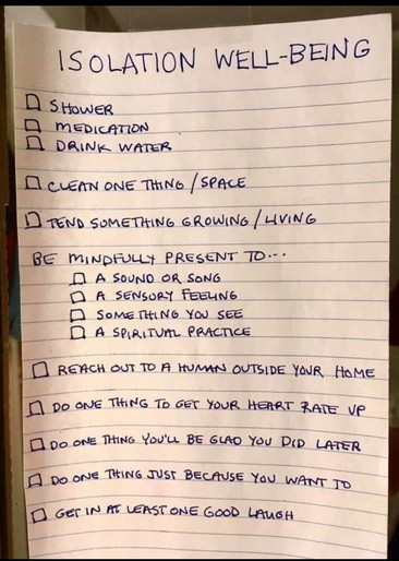 Mental Health Checklist