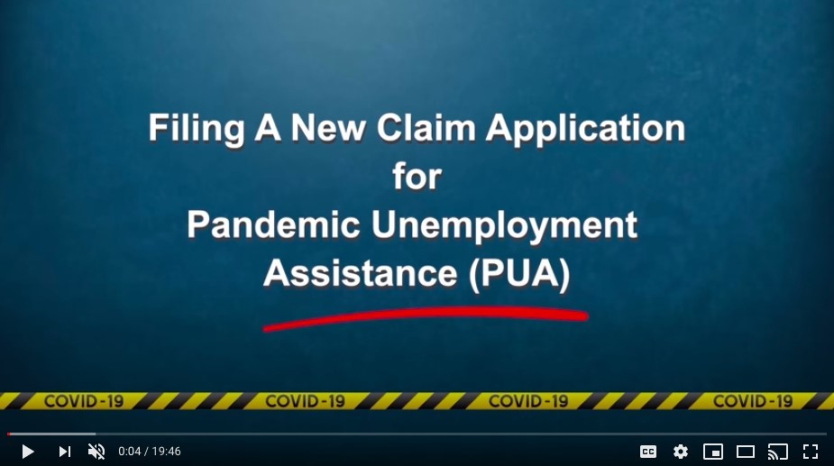 PUA New Claim Video 5-21-2020