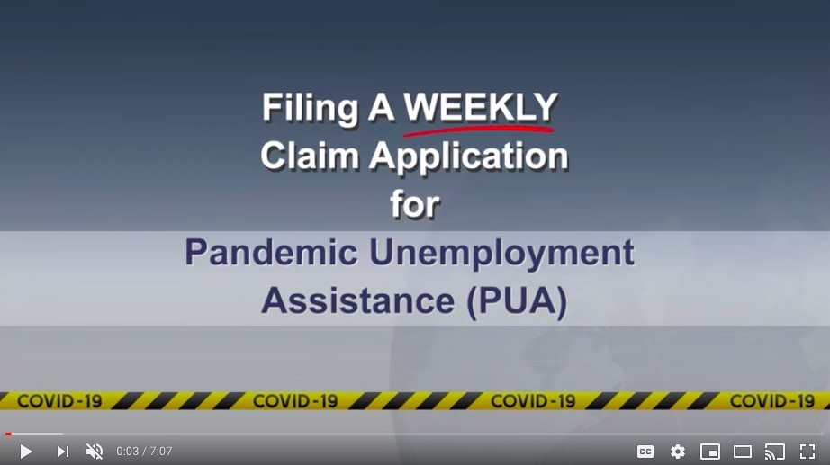 PUA Weekly Claim Video 5-21-2020