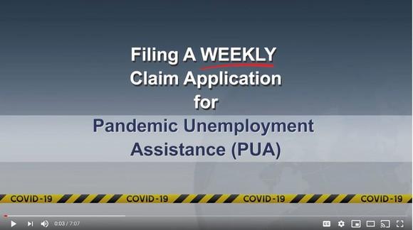 Weekly PUA Claim-Video