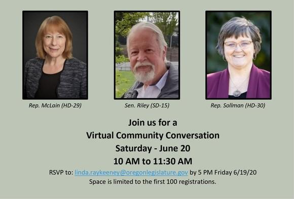 Community Conversation: McLain, Sollman and Riley June 20