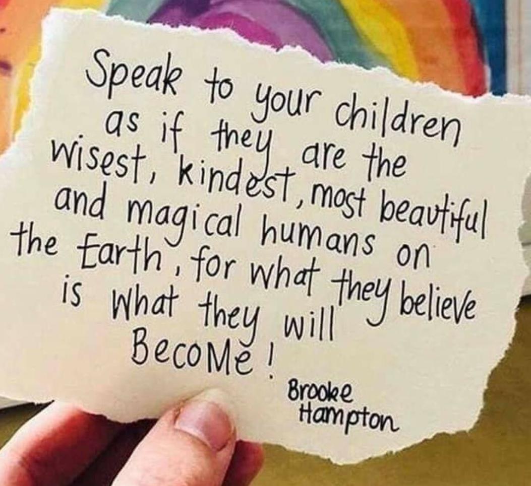 Speak to your children