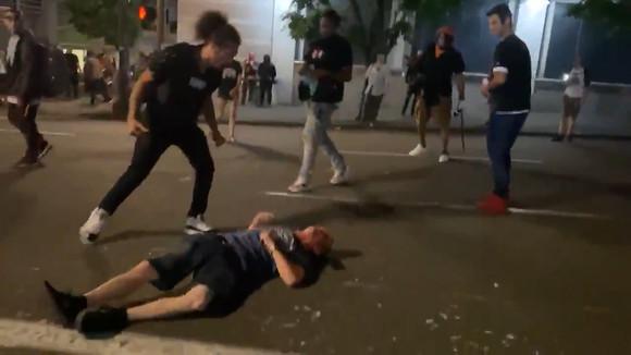 portland man kicked in heat riot