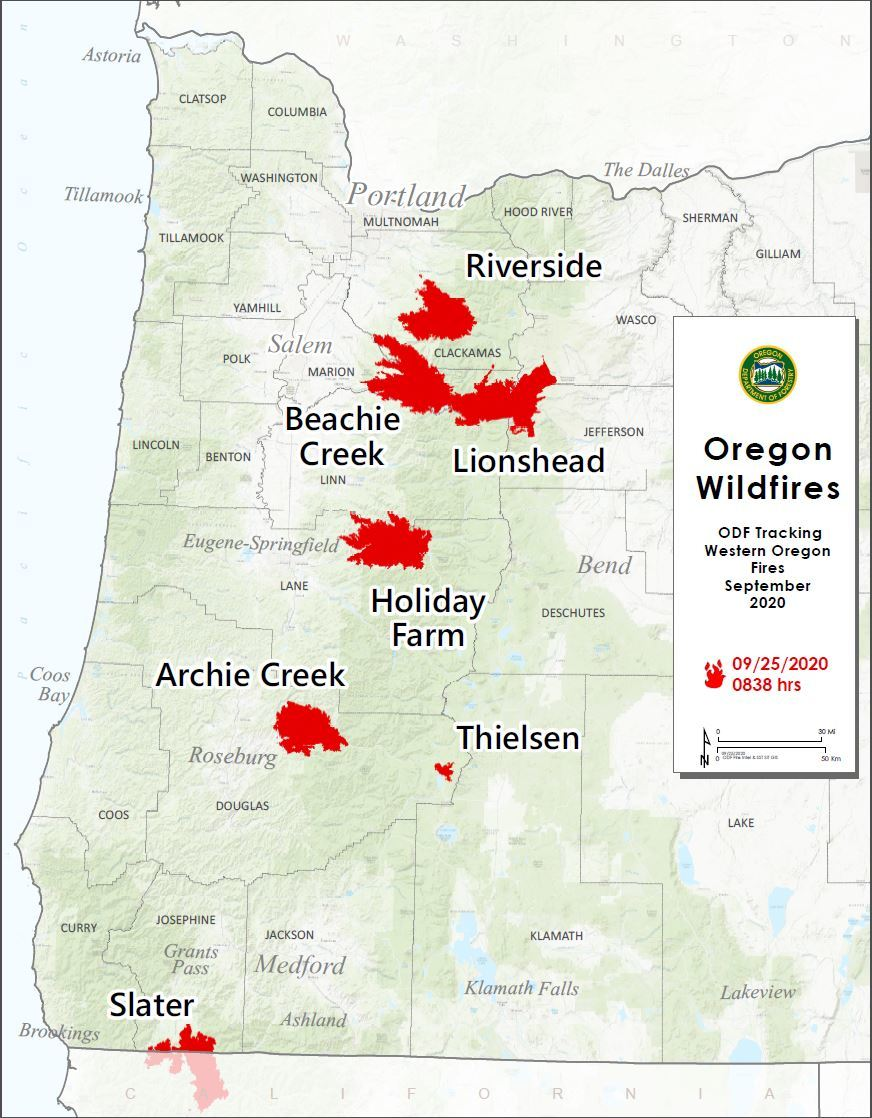 Large Fire Map 9/25