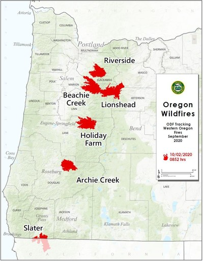 Large Fire Map